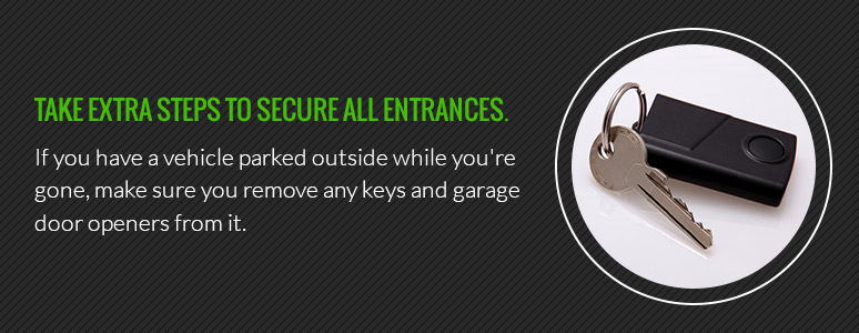 Secure all entrances to your home for home security