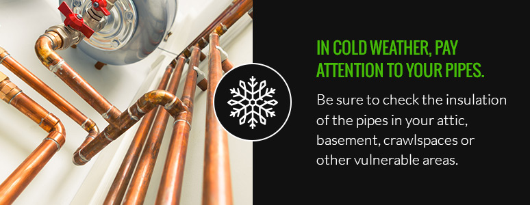 pay attention to pipes in cold weather